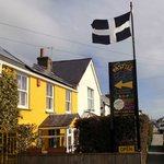 Flying the Cornish flag