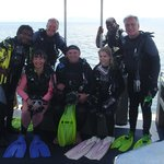 A very happy dive group and guides.