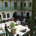 The hotel elegant courtyard