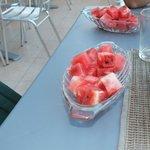 Watermelon for breakfast