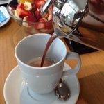 Gorgeous hot chocolate.