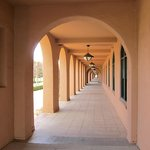 Arched hallway at Liberty Station