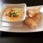 Baked Potato Soup with Grilled Cheese Sandwich