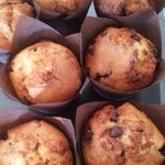 Chocolate Butterscotch Toffee Muffins