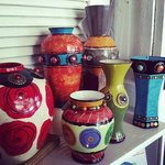 Handpainted upcycled vases