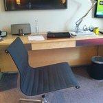 chair, desk, ipod docker