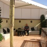 Roof terrace tented area