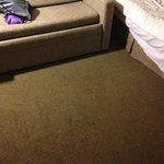 Filthy carpet (bring shoes!!)