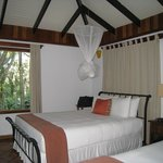 Suite #4 features two very comfortable king beds with heavenly  linens and towels