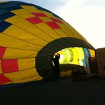 You can enjoy hot air balloon preparation!