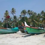 Färgrika fiskebåtar