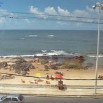 Vista do apartamento para a praia de Amaralina