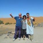 Con los amigos en el desierto