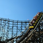 The Wooden Roller Coaster is Playland's most historic and most popular attraction