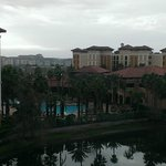From balcony overlooking lake and resort