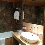 Bathroom, bath, shower, toilet, basin and bidet