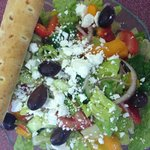 Greek Salad with Rosemary & Seasalt Breadstick