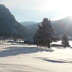 Sunny winter morning in Estes