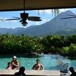Pool bar and Arenal Volcano