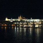 Charles Bridge and the Palace at Night