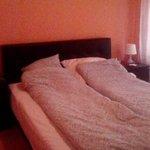 Double bed in separate bedroom