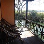 La terrace avec vue sur la nature