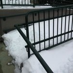 Snow blocked wheel chair ramps