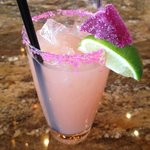 Happy hour at View 180, this is the Prickly Pear Margarita
