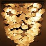 Flower petal chandelier