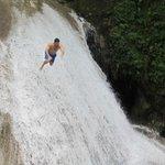Running down the Secret Falls