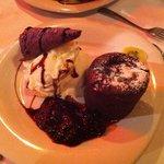 soufflè al cioccolato con gelato