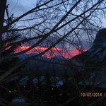 Sonnenaufgang vom Wohnzimmer aus
