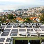 Zona comunal con vistas a Funchal y puerto de cruceros