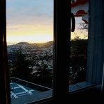 Vista desde nuestra habitación a Funchal y puerto de cruceros