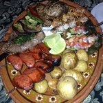 Grilled mix plate for two