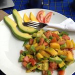 Mango avocado salad.