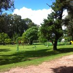 Zona de ejercicios y juegos para niños
