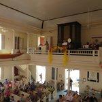Choir loft and organ