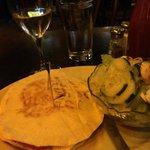 yummy dinner- chicken sandwich and nice salad