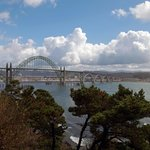 Yaquina Bay Bridge from lighthouse parking lot