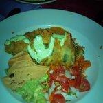 Shrimp & Crab stuffed Chile Relleno