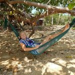 Relaxing in one of the most beautiful places in the world, on the beach and in a hammock