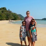 On the beautiful private beach at Lom Lae on Koh Yao Noi