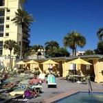 Pool Deck at Rum Runners- nice cabanas