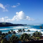Watch surfers from your balcony