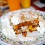 Stuffed French Toast w/ Peaches