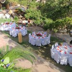 Beautiful table settings for a wedding