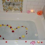 special bath treat from our butlers on our last night