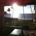 From the dinning table on the lanai of #202