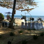 The wedding on the beach